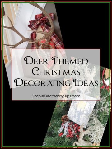 Deer Themed Christmas Decorating