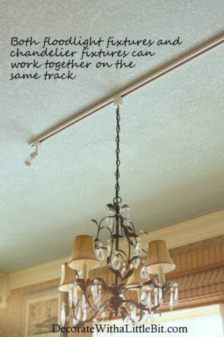 HometoCottage.com DIY track light chandelier