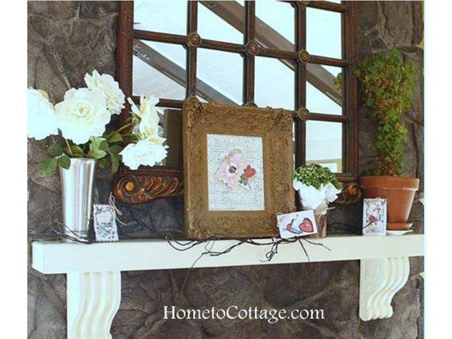 HometoCottage.com valentine mantle