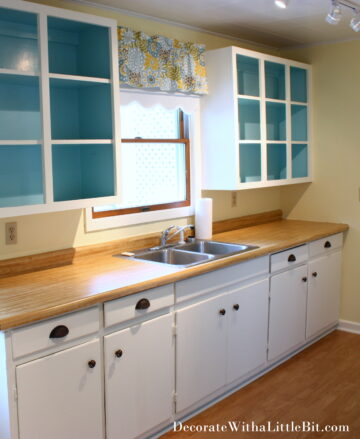 One of Our Rentals… Vintage, Cottage Style Duplex… Open Cabinets and Inspiration for Aqua