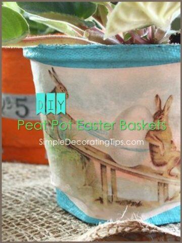 DIY Peat Pot Easter Baskets