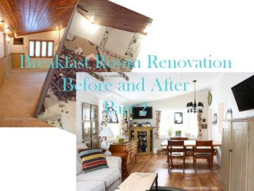 Breakfast Room:  Before & After Part 2