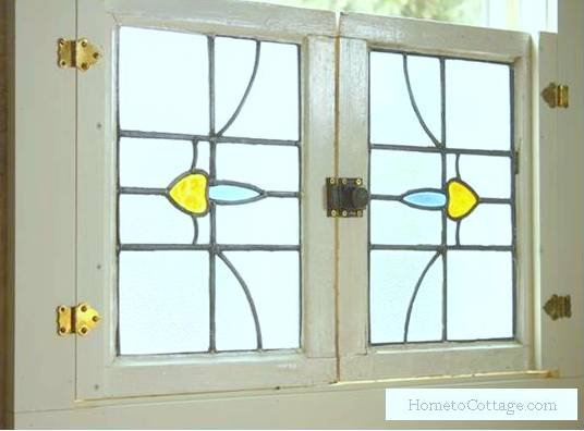 Using Antique Windows As Interior Shutters Hometocottage