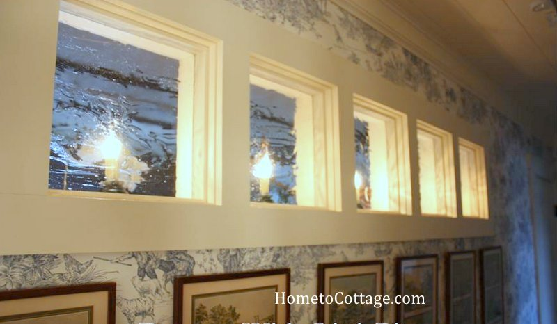 Diy Interior Windows From Glass Pieces