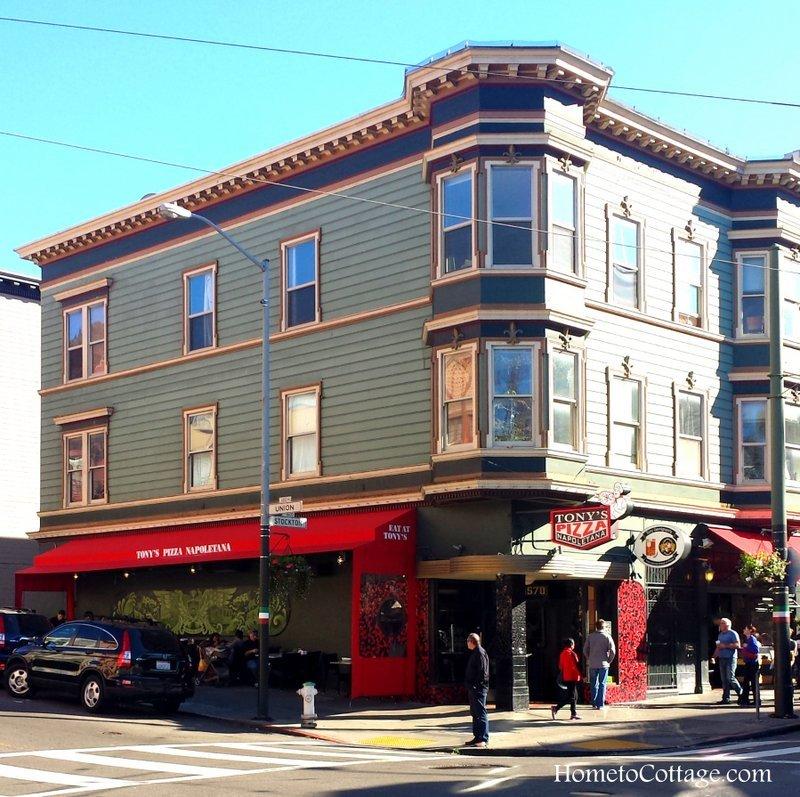 HometoCottage.com San Francisco Tony's Pizza bay windows tony's pizza
