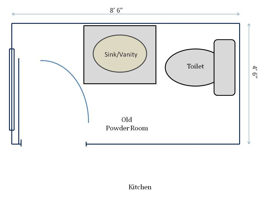 Hometocottage Old Powder Room Floorplan