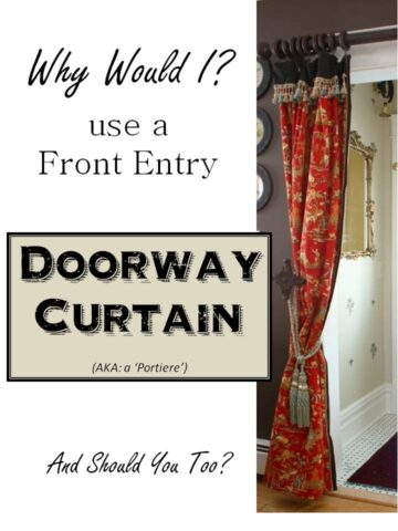Front Entry Doorway Curtain, Portiere