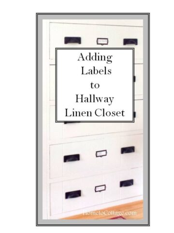 Adding Labels to the Linen Closet