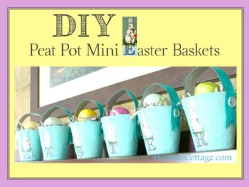 Mod Podge Peat Pot Easter Baskets