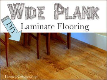 DIY Wide Plank Laminate Flooring