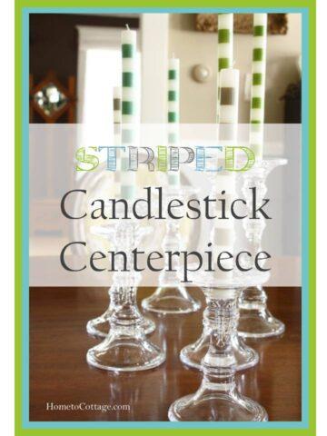 Striped Candlestick Centerpiece
