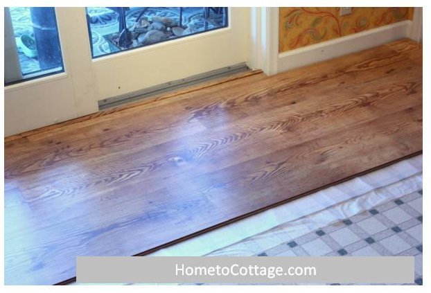 HometoCottage.com laminate floor partly done