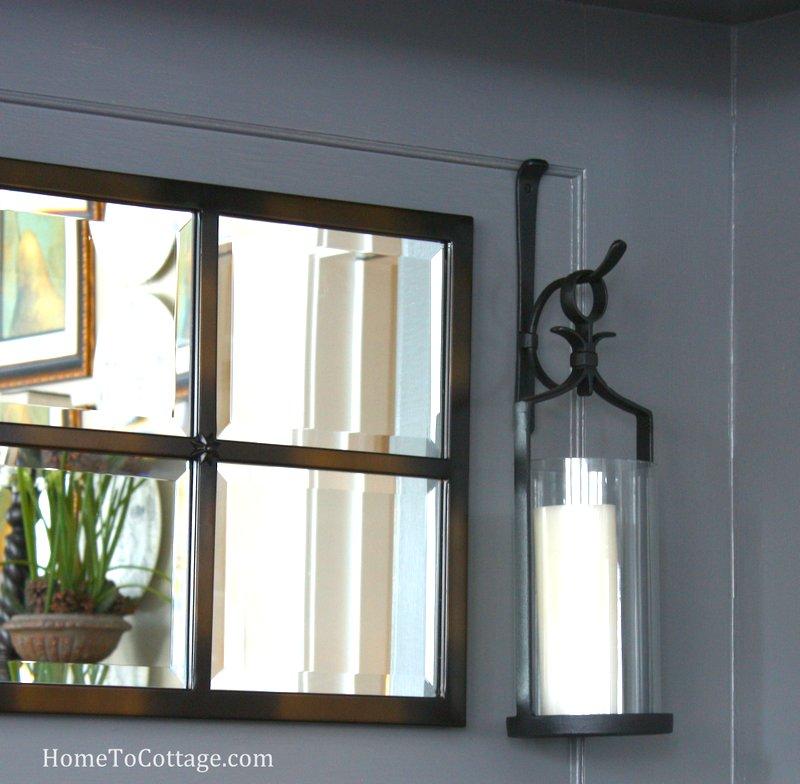 HometoCottage.com mirror with lanterns