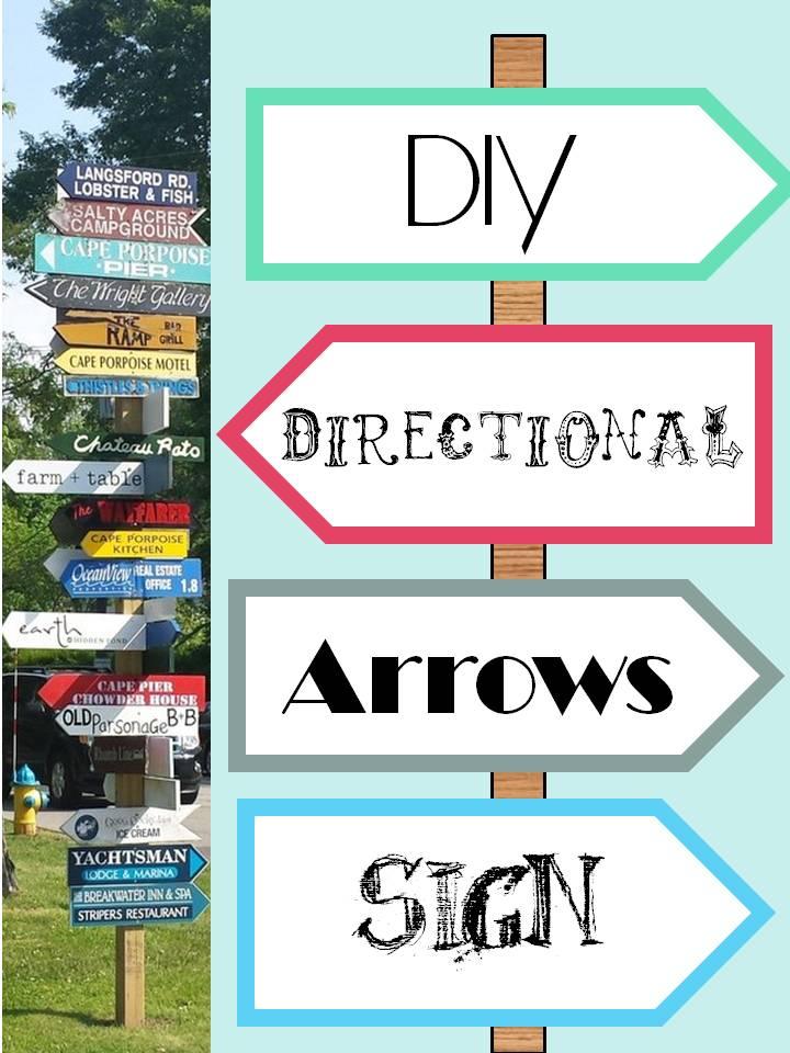 HometoCottage.com DIY Directional Arrows Sign