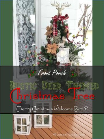 Rustic Deer Themed Christmas Tree for Front Porch