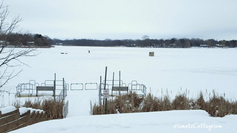 HometoCottage.com lone ice fisherman