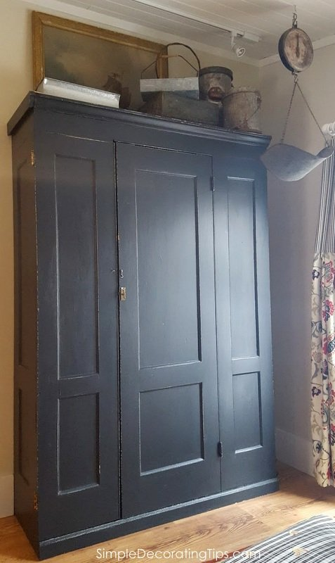 SimpleDecoratingTips.com antique utility cupboard