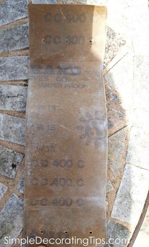 SimpleDecoratingTips.com 400 grit sanding paper