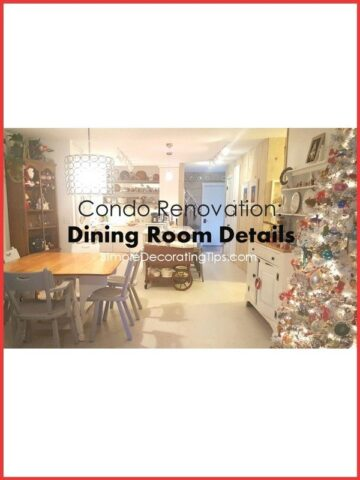 Condo Renovation: Dining Area Details