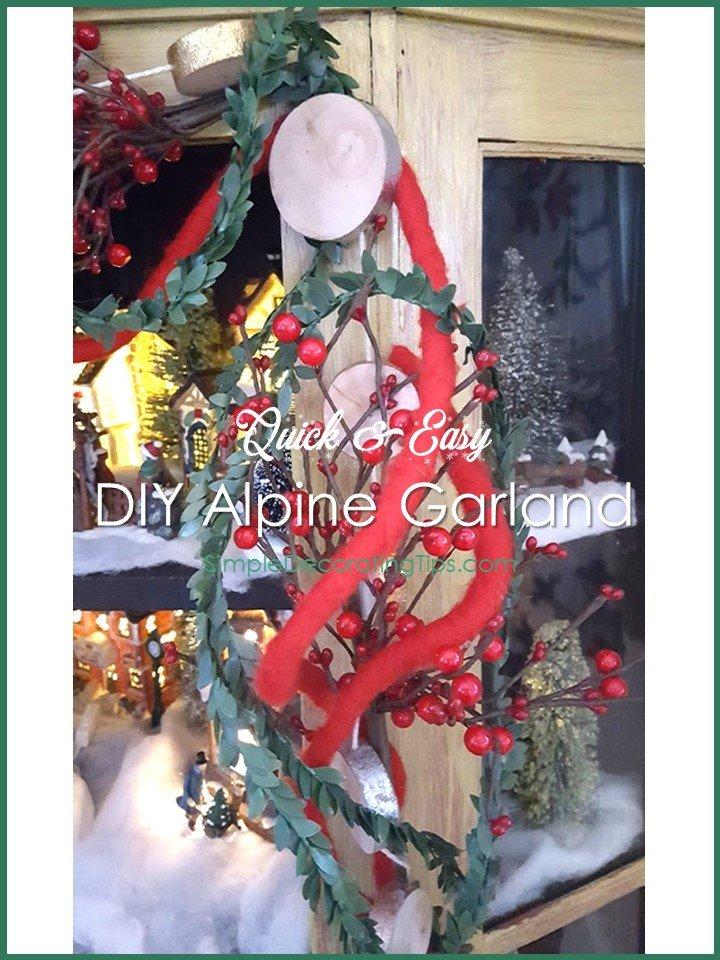SimpleDecoratingTips.com DIY Alpine Garland