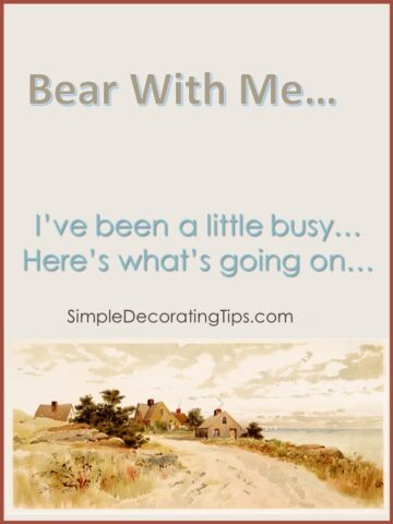Bear with me…