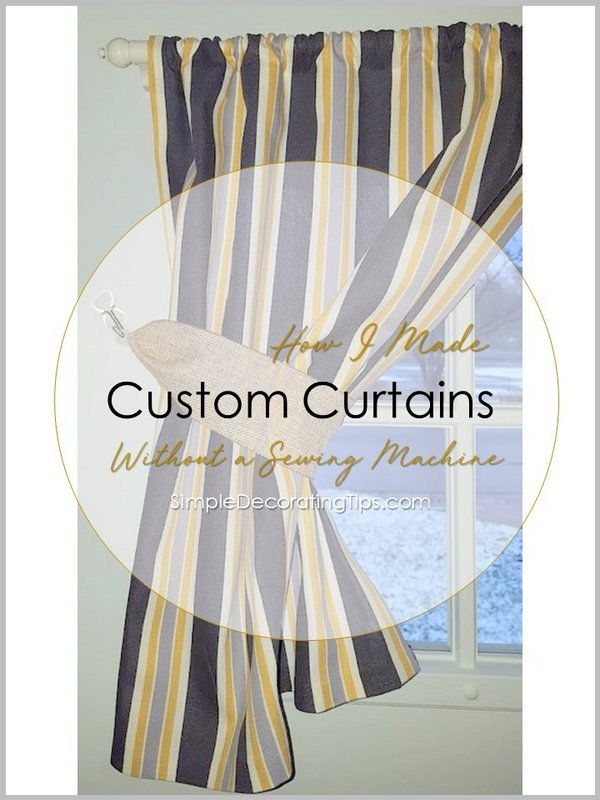 How to make your own curtains without a sewing machine How to make a valance without sewing