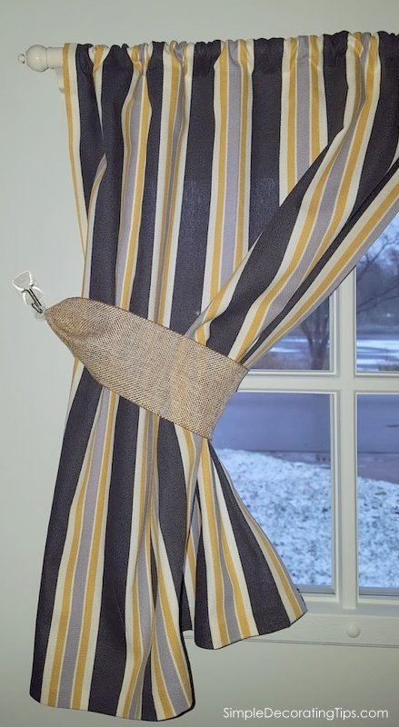 SimpleDecoratingTips.com How I Made Custom Curtains without a Sewing Machine