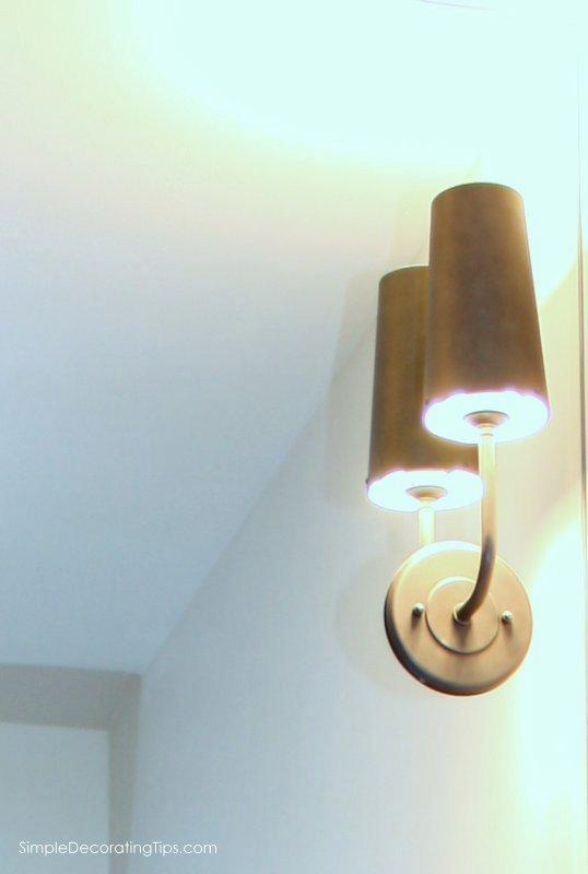 SimpleDecoratingTips.com Vanity Sconce Lighting