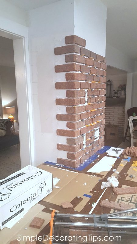 Exposed Brick Chimney Simple Decorating Tips