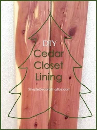 Cedar Closet Lining