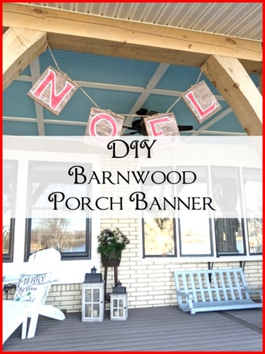 DIY Barnwood Porch Banner SimpleDecoratingTips.com