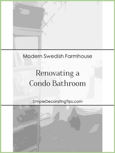 RENOVATING A CONDO BATHROOM