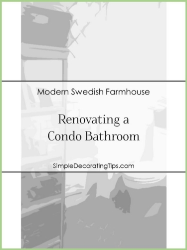 SimpleDecoratingTips.com Renovating a Condo Bathroom