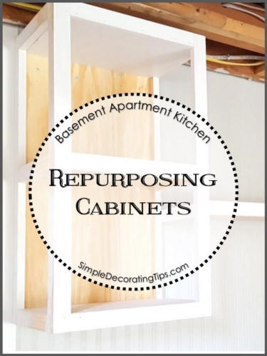 REPURPOSING CABINETS FOR THE BASEMENT APARTMENT
