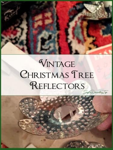 Vintage Christmas Tree Reflectors sdtips.com