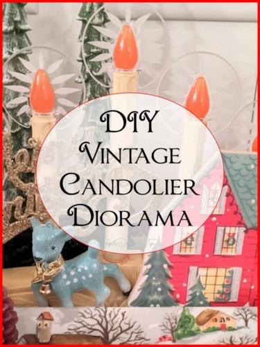 vintage candolier diorama