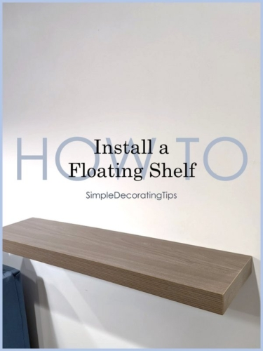 how to install a floating shelf