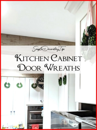 Kitchen Cabinet Door Wreaths