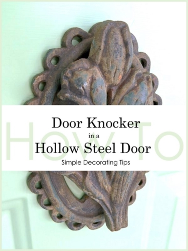 install door knocker in a hollow steel door
