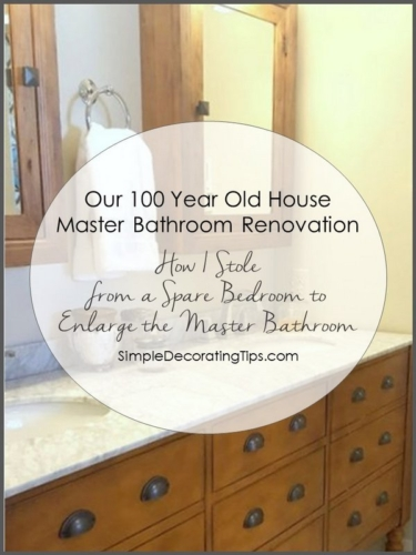 SimpleDecoratingTips.com Our 100 Year Old House Master Bathroom Renovation