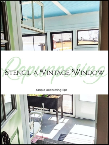 Repurposing: Stencil a Vintage Window