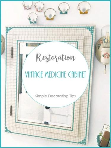 Restoration Vintage Medicine Cabinet SimpleDecoratingTips.com