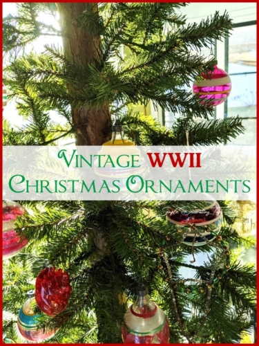 Vintage WWII Christmas Ornaments