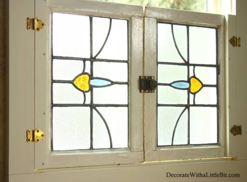 Vintage Windows for Interior Shutters