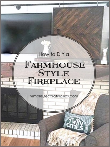 FARMHOUSE STYLE FIREPLACE RE-DO