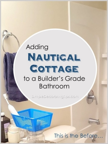 NAUTICAL COTTAGE BATHROOM UPGRADE