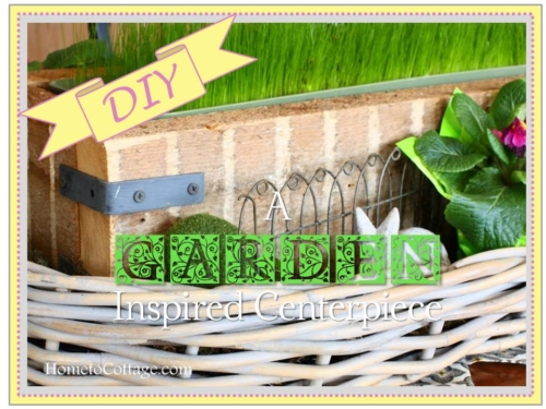 DIY a Garden inspired Centerpiece title page