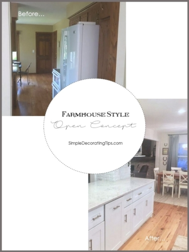 MAKING A FARMHOUSE STYLE OPEN CONCEPT MAIN LEVEL