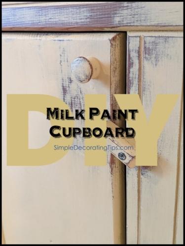 Milk Paint Cupboard Frame and Frills SimpleDecoratingTips.com
