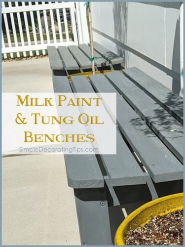 Milk-Paint-and-Tung-Oil-Benches